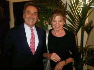 Ermes De Megni and Mary Gostelow at Hotel Splendido Portofino