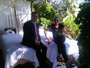 Mary Gostelow at Hotel Splendido Portofino's Outside Spa