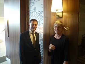 With Hilton Sofia GM Jacques Brune