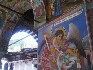 The frescoes on Rila Monastery's walls and ceilings are breathtaking