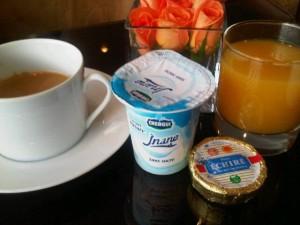 French-Moroccan breakfast, Hyatt Regency club lounge, Casablanca