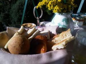 Breads at breakfast in Portofino