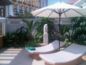 Luxury hotels and travel - View of Banyan Tree Macau's Villa 506 terrace