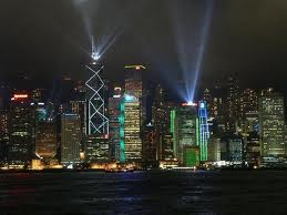 Luxury hotels and travel - Hong Kong's nightly laser show