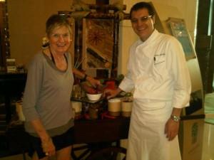 Luxury hotels and travel - Luxury travel guru Mary Gostelow and chef Matias Martinez