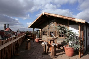What the Alm Hut will look like, on the Mandarin Oriental Munich rooftop