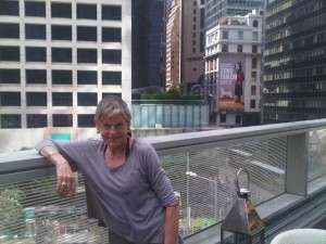 Luxury hotels and travel - Mary Gostelow at the Armani Aqua terrace Hong Kong
