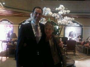 Luxury hotels and travel - Bede Barry and Mary Gostelow at Grand Lapa Macau