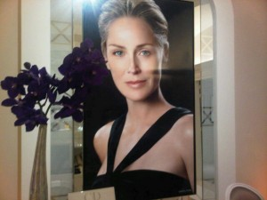 Charlize Theron, face of J'Adore, greets you at Institut Dior Spa