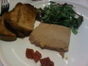 Luxury hotels and travel - Aboard BA foie gras terrine with quince jelly and toasted brioche