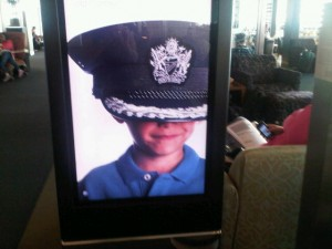 Luxury hotels and travel - British Airways rolling advertisement - under a captain's hat