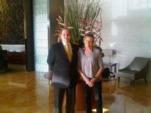 Luxury hotels and travel - Martinl Schnider and Mary Gostelow at Mandarin Oriental Macau