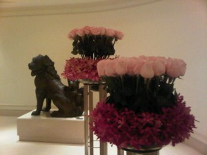 Luxury hotels and travel - Pink flowers at the Peninsula Hong Kong