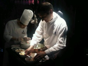 Luxury hotels and travel - Risotto made table-side at Tosca restaurant, Ritz Carlton Hong Kong
