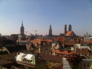 Munich rooftop view