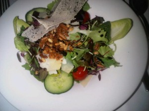 Luxury hotels and travel - healthy salad by Charles Lindbergh restaurant