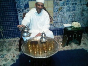 Luxury hotels and travel - Coffee welcome at Es Saadi Palace hotel, Marrakesh
