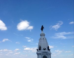 .. atop Philadelphia City Hall, by day...