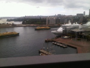 Still on the bridge, looking across to the Opera House, with Silver Shadow to the right