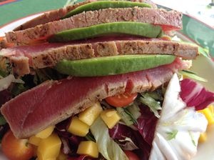 Tuna-sashimi salad