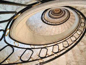 Looking down part of the Alvear Palace staircase