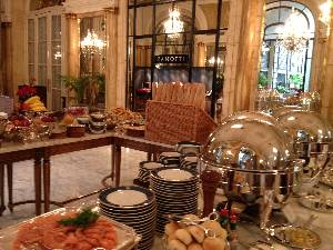 Section of the breakfast buffet ....