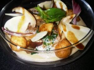 Luxury hotel - iPad chosen salad at Monte-Carlo Bay Hotel's Blue Bay restaurant