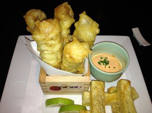 Fish and chips, by Nobu...