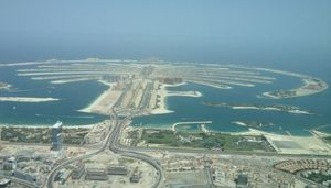 Looking down at Palm Jumeirah