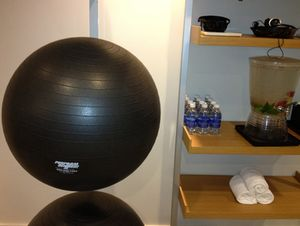 A gym with Pilates balls...