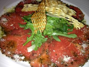 The Palm's beef carpaccio
