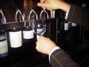 Oenotec wine machine at Andaz San Diego