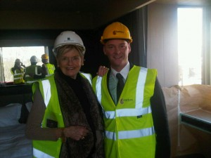 Belgravia's General Manager Joseph Kirtley and Mary Gostelow