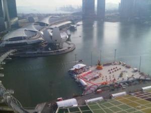 View down to Marina Bay