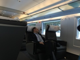 First class carriages are really spacious