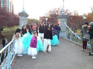 Glamour on the bridge