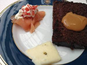Breakfast in Argentina could be pepper-cheese, chocolate cake and salmon