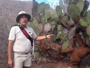Juan Carlos explains prickly pear