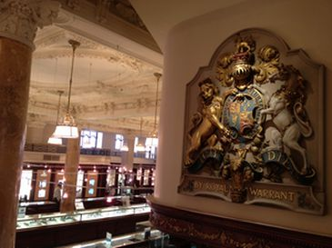 Birks jewellery store, with Royal Warrant