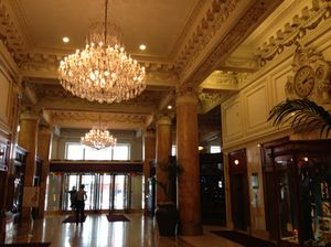 The glorious lobby to the retail area