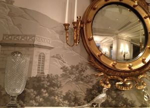 Silver from Monticello, and a Jefferson-inspire wallpaper