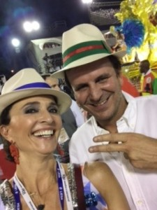 The President of the Convention and Tourist Board, Andrea Natal, with Eduardo Paes, Mayor of Rio