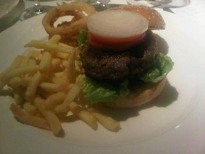 Duck burger by Pierre Koffmann at the Berkeley luxury hotel