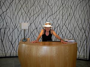 Front desk, Westin Costa Navarino