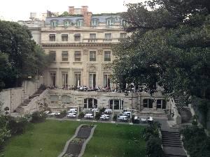 Looking across at Palacio Duhau by day...