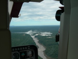 Luxury hotels and travel - Iguazu Falls seen from helicopter