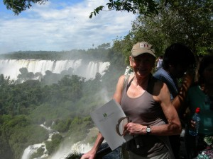 Luxury hotels and travel - Mary Gostelow walks by Iguazu Falls just before breakfast