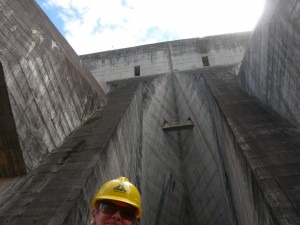 Luxury hotels and travel - At Itaipu Dam, 600 feet below the top