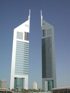 The twin-blocks of Emirates Towers