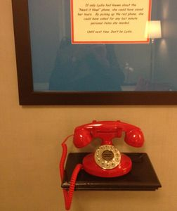 Telephone in the ladies' washroom